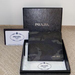 Authentic Prada Men's Bifold Wallet